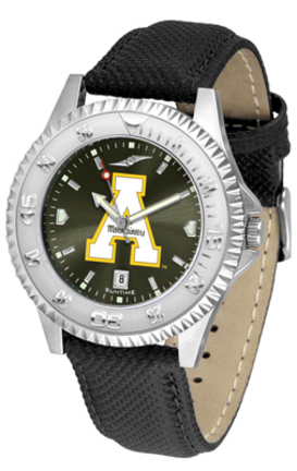 Appalachian State Mountaineers Competitor AnoChrome Men's Watch with Nylon/Leather Band