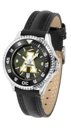 Appalachian State Mountaineers Competitor Ladies AnoChrome Watch with Leather Band and Colored Bezel