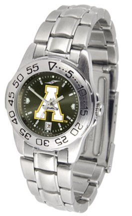 Appalachian State Mountaineers Sport AnoChrome Ladies Watch with Steel Band