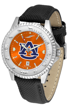 Auburn Tigers Competitor AnoChrome Men's Watch with Nylon/Leather Band