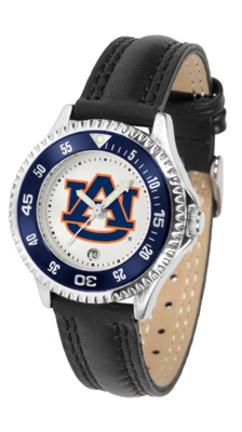 Auburn Tigers Competitor Ladies Watch with Leather Band