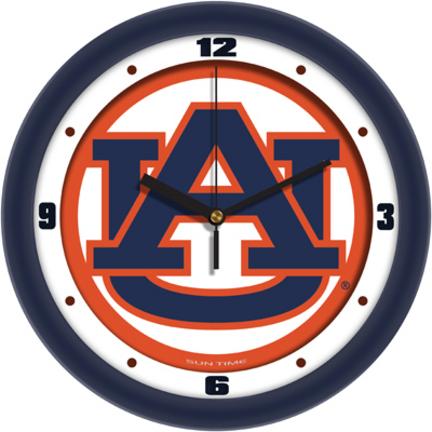 Auburn Tigers Traditional 12 inch Wall Clock