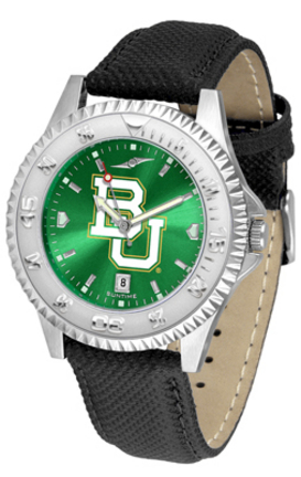 Baylor Bears Competitor AnoChrome Men's Watch with Nylon/Leather Band