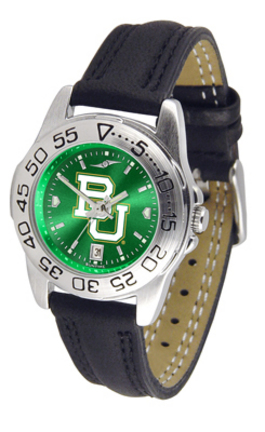 Baylor Bears Sport AnoChrome Ladies Watch with Leather Band