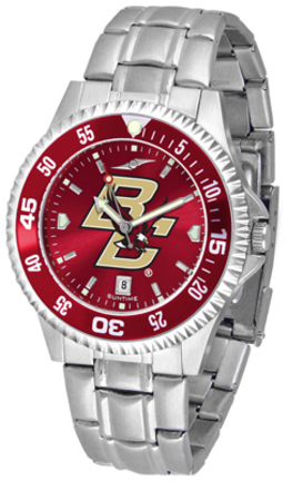 Boston College Eagles Competitor AnoChrome Men's Watch with Steel Band and Colored Bezel