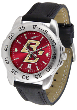Boston College Eagles Sport AnoChrome Men's Watch with Leather Band