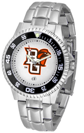 Bowling Green State Falcons Competitor Men's Watch with a Metal Band