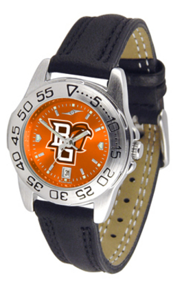 Bowling Green State Falcons Sport AnoChrome Ladies Watch with Leather Band