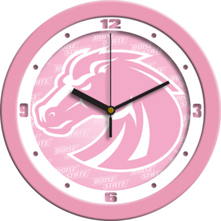 Boise State Broncos 12″ Pink Wall Clock