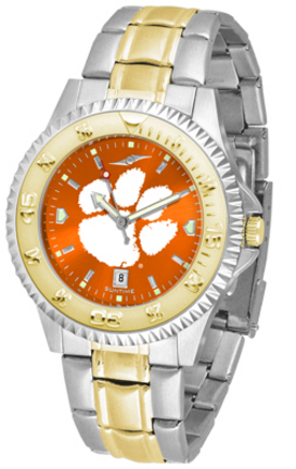 Clemson Tigers Competitor AnoChrome Two Tone Men's Watch