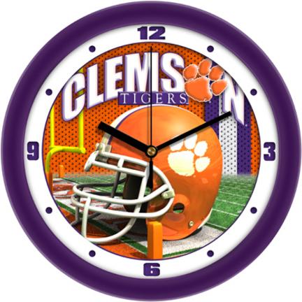 Clemson Tigers 12 inch Helmet Wall Clock