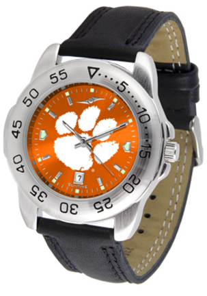 Clemson Tigers Sport AnoChrome Men's Watch with Leather Band
