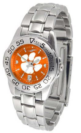 Clemson Tigers Sport AnoChrome Ladies Watch with Steel Band