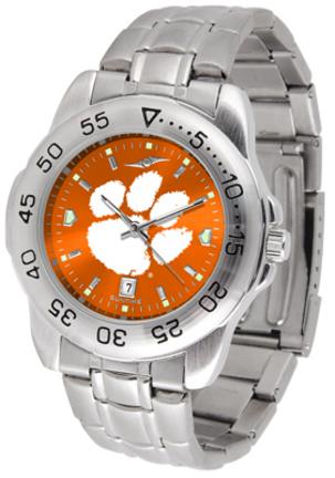 Clemson Tigers Sport Steel Band Ano-Chrome Men's Watch