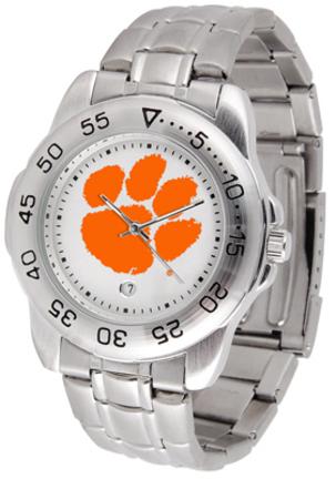 Clemson Tigers Sport Steel Band Men's Watch