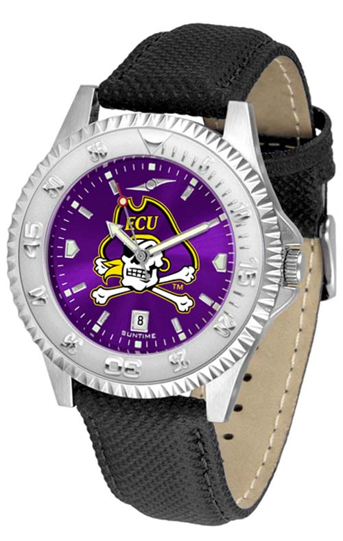 East Carolina Pirates Competitor AnoChrome Men's Watch with Nylon/Leather Band