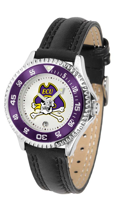 East Carolina Pirates Competitor Ladies Watch with Leather Band