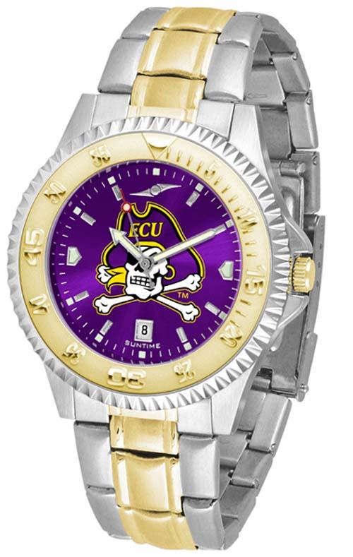 East Carolina Pirates Competitor AnoChrome Two Tone Men's Watch