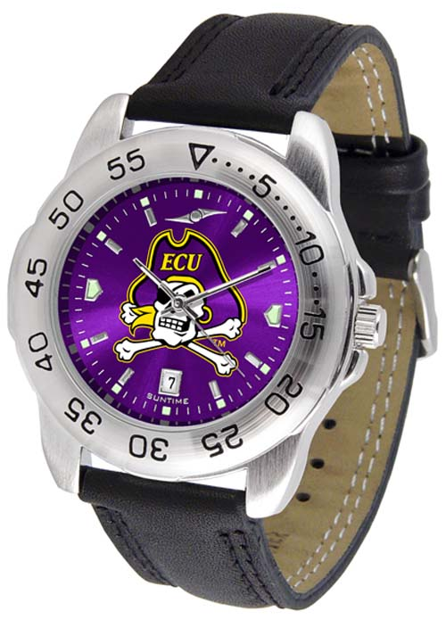 East Carolina Pirates Sport AnoChrome Men's Watch with Leather Band