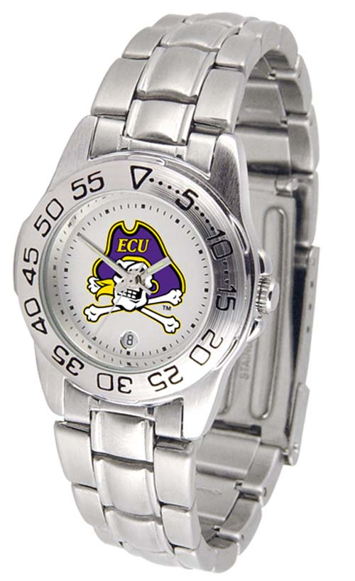 East Carolina Pirates Gameday Sport Ladies' Watch with a Metal Band