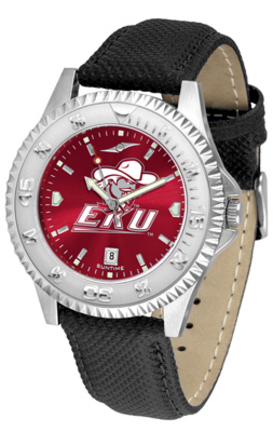 Eastern Kentucky Colonels Competitor AnoChrome Men's Watch with Nylon/Leather Band