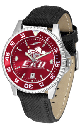 Eastern Kentucky Colonels Competitor AnoChrome Men's Watch with Nylon/Leather Band and Colored Bezel