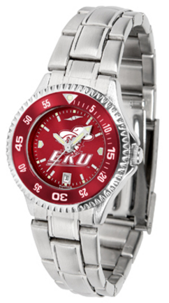 Eastern Kentucky Colonels Competitor AnoChrome Ladies Watch with Steel Band and Colored Bezel sale 2016