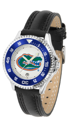 Florida Gators Competitor Ladies Watch with Leather Band