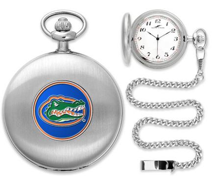 Florida Gators Silver Pocket Watch