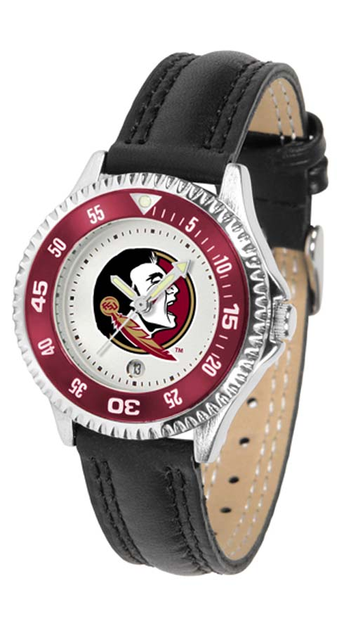 Florida State Seminoles Competitor Ladies Watch with Leather Band