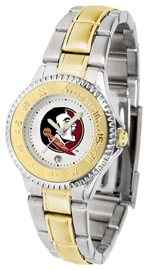 Florida State Seminoles Competitor Ladies Watch with Two-Tone Band