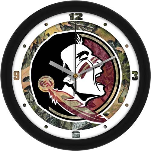 Florida State Seminoles 12 inch Camo Wall Clock