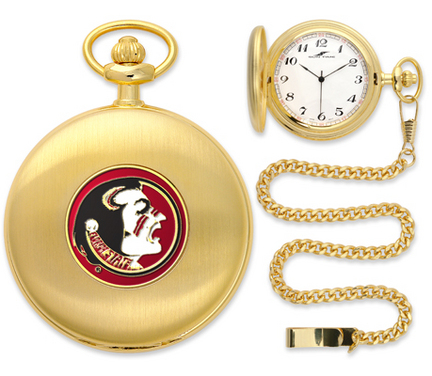 Florida State Seminoles Gold Pocket Watch