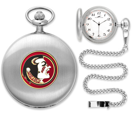 Florida State Seminoles Silver Pocket Watch