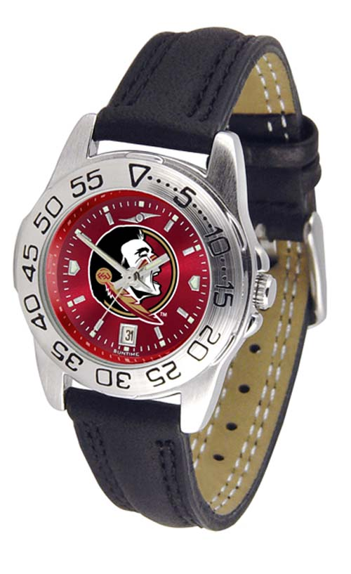 Florida State Seminoles Sport AnoChrome Ladies Watch with Leather Band