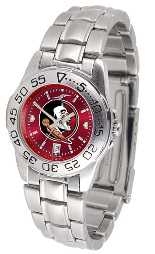 Florida State Seminoles Sport AnoChrome Ladies Watch with Steel Band