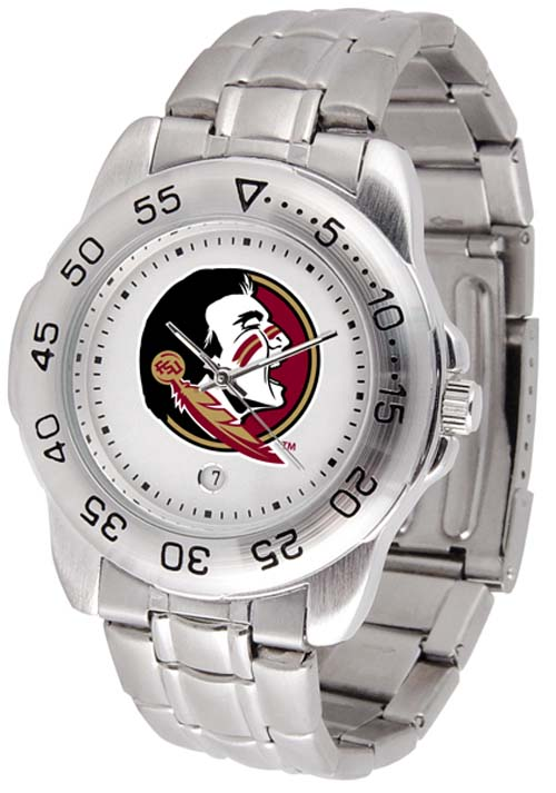 Florida State Seminoles Sport Steel Band Men's Watch