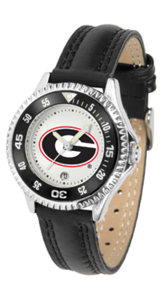 Georgia Bulldogs Competitor Ladies Watch with Leather Band