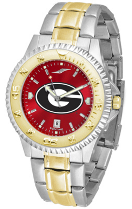 Georgia Bulldogs Competitor AnoChrome Men's Two Tone Watch