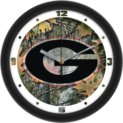 Georgia Bulldogs 12 inch Camo Wall Clock