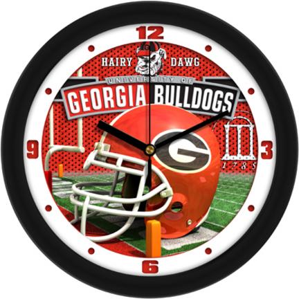 Georgia Bulldogs 12 inch Helmet Wall Clock