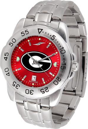 Georgia Bulldogs Sport Steel Band Ano-Chrome Men's Watch