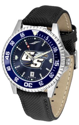 Georgia Southern Eagles Competitor AnoChrome Men's Watch with Nylon/Leather Band and Colored Bezel