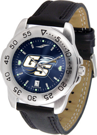 Georgia Southern Eagles Sport AnoChrome Men's Watch with Leather Band