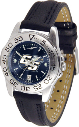 Georgia Southern Eagles Sport AnoChrome Ladies Watch with Leather Band