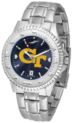 Georgia Tech Yellow Jackets Competitor AnoChrome Men's Watch with Steel Band