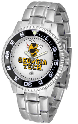 Georgia Tech Yellow Jackets Competitor Men's Watch with a Metal Band