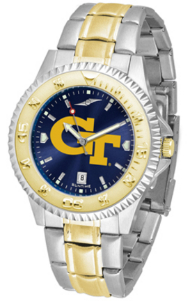 Georgia Tech Yellow Jackets Competitor AnoChrome Two Tone Men's Watch