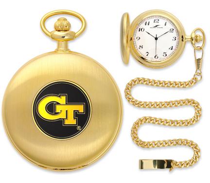 Georgia Tech Yellow Jackets Gold Pocket Watch
