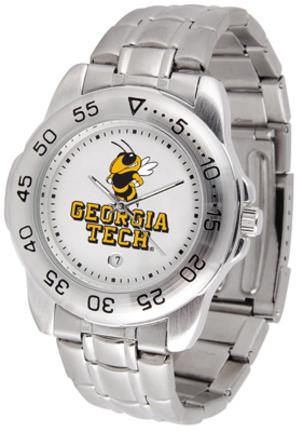 Georgia Tech Yellow Jackets Sport Steel Band Men's Watch